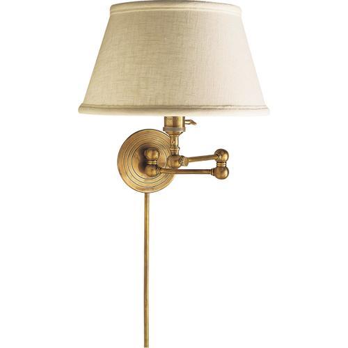 E. F. Chapman Boston 19 inch 60.00 watt Hand-Rubbed Antique Brass Swing-Arm Wall Light
