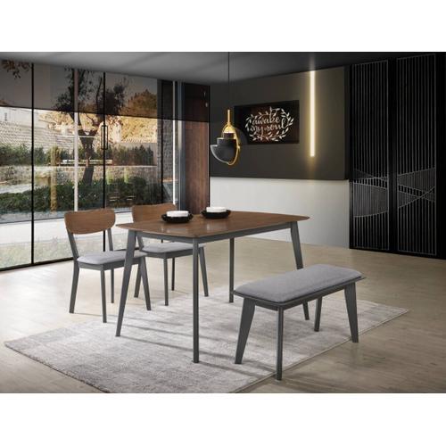 VIG Furniture - Modrest Lillian - Modern Walnut and Grey Dining Set