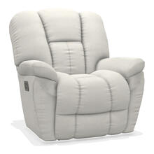 View Product - Maverick Power Rocking Recliner w/ Headrest and Lumbar
