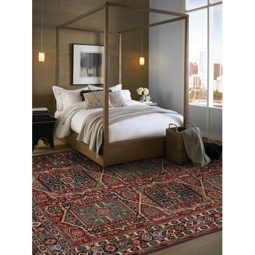 Lineage-Qashqai Red Navy Machine Woven Rugs