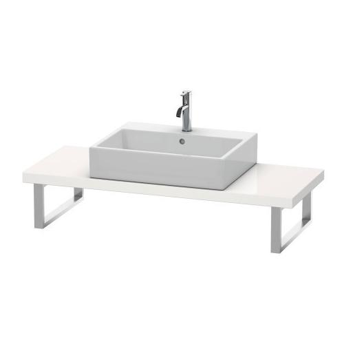 Console For Above-counter Basin And Vanity Basin Compact, White High Gloss (lacquer)