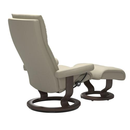 Stressless By Ekornes - Stressless® Aura (L) Classic chair with footstool