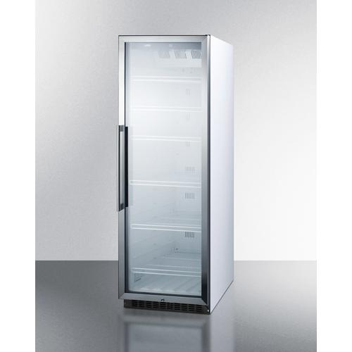 Commercial Beverage Merchandiser Designed for the Display and Refrigeration of Beverages and Sealed Food, With 12.6 CU.FT. Capacity, Digital Thermostat and Self-closing Door; Replaces Scr1400