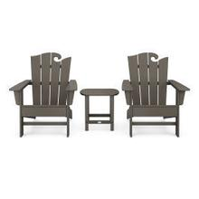 View Product - Wave 3-Piece Adirondack Set with The Ocean Chair in Vintage Coffee
