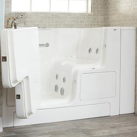 Gelcoat Premium Series 32x52 Outward Opening Door Combo Massage Walk-in Tub, Left Drain  American Standard - White