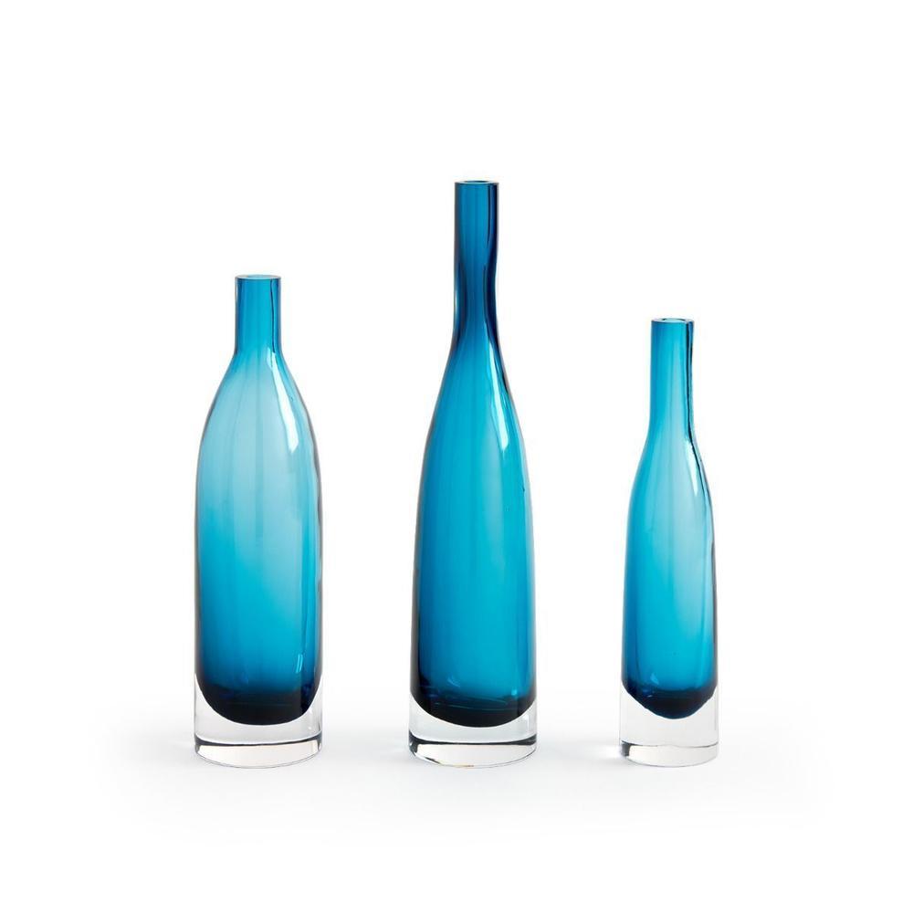 Botella Set of 3 Vases, Midnight Blue