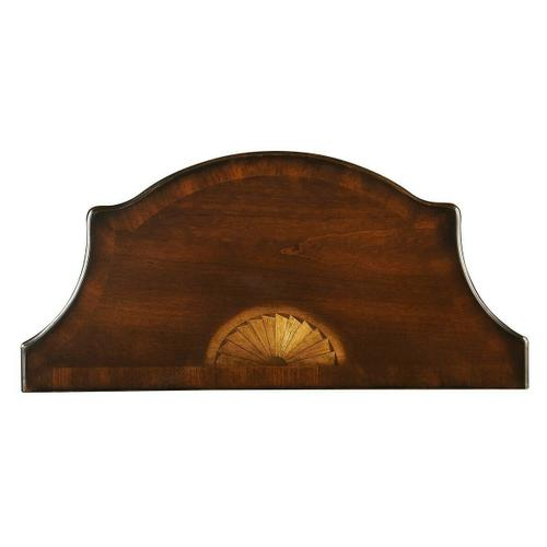 Butler Specialty Company - This Pembroke-inspired console is highly elegant, yet unpretentious. Ideal for small spaces - in a hallway, foyer or entryway - it is crafted from rubberwood solids and wood products featuring beautiful curves with a cherry veneer top, linen-fold inlay patterns of maple and walnut veneers on both the top and apron front, all in a rich Plantation Cherry finish.