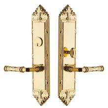 Polished Brass Fenwick Escutcheon Entrance Set
