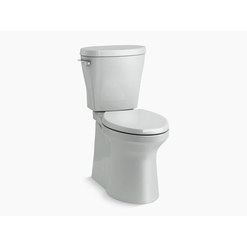 Ice Grey Betello With Continuousclean Comfort Height Two-piece Elongated 1.28 Gpf Toilet With Continuousclean, Skirted Trapway, Revolution 360 Swirl Flushing Technology and Left-hand Trip Lever, Seat Not Included