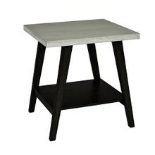 View Product - End Table - Concrete Gray/Black Finish
