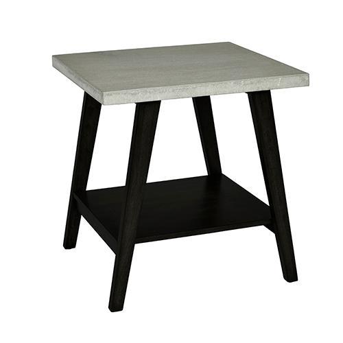 Progressive Furniture - End Table - Concrete Gray/Black Finish