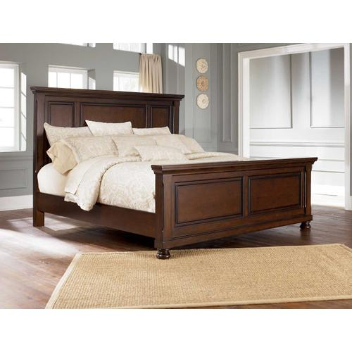 Porter Cal King Bed Rustic Brown