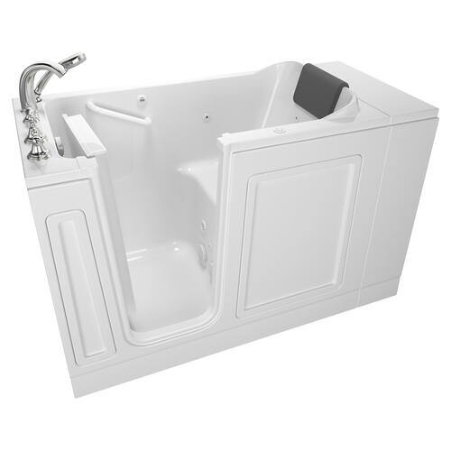 Luxury Series 28x48-inch Left Drain Walk-in Bathtub Whirlpool with Tub Faucet  American Standard - White