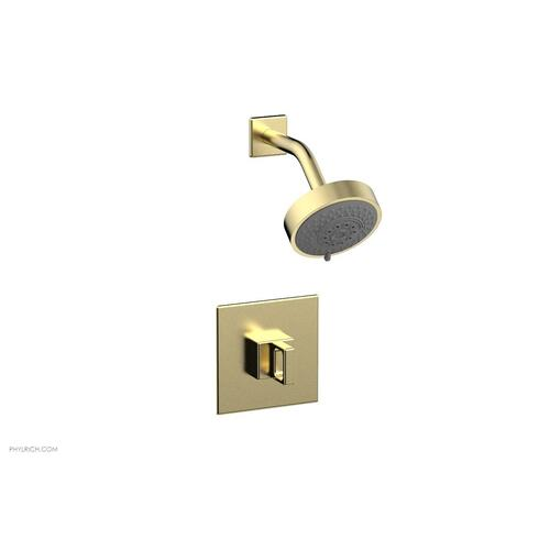 MIX Pressure Balance Shower Set - Ring Handle 290-23 - Polished Brass Uncoated