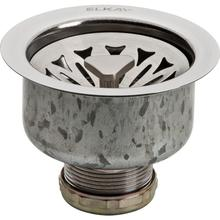 "Elkay Drain Fitting 3-1/2"" Stainless Steel Body with, Strainer Basket Satin Finish"