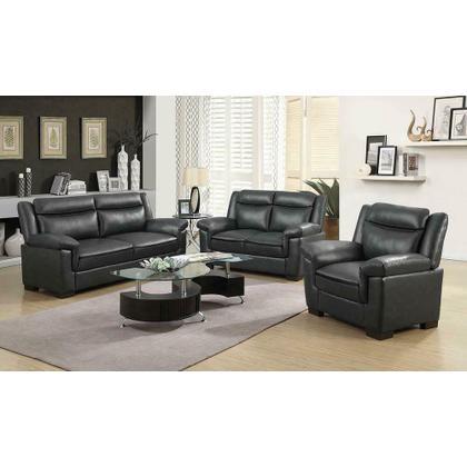 See Details - Arabella Contemporary Grey Sofa
