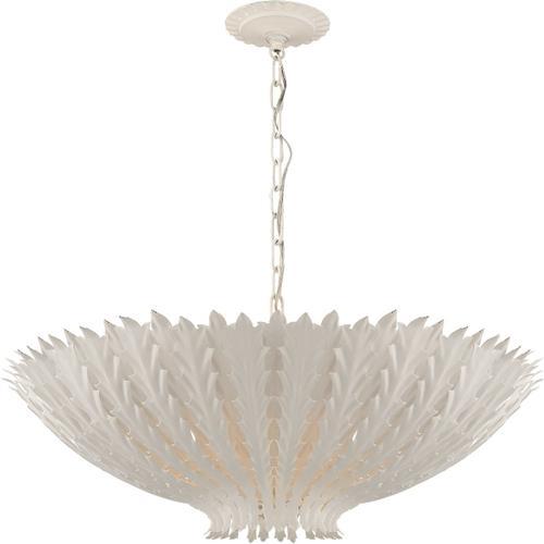 Visual Comfort - AERIN Hampton 6 Light 26 inch Plaster White Chandelier Ceiling Light, Large