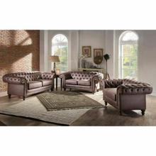 ACME Shantoria II Chair - 52417 - Brown Polished Microfiber