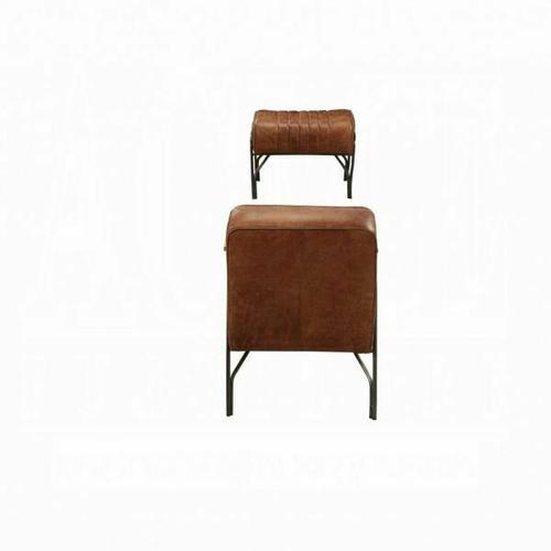 ACME Sarahi 2Pc Pack Chair & Ottoman - 59595 - Cocoa Top Grain Leather