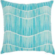 "Outdoor Pillows Bj151 Turquoise 18"" X 18"" Throw Pillow"
