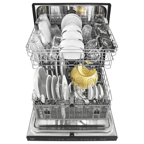 Whirlpool - Stainless Steel Tub Dishwasher with TotalCoverage Spray Arm Black