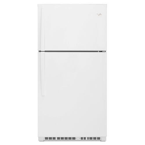 33-inch Wide Top Freezer Refrigerator - 21 cu. ft. White