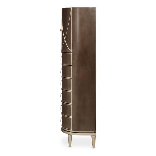Amini - Swivel Chiffonier Lingerie Chest Living Room Storage Cabinet