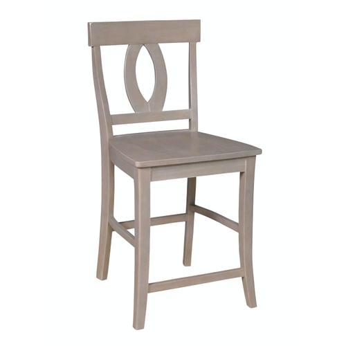 John Thomas Furniture - Verona Stool in Taupe Gray