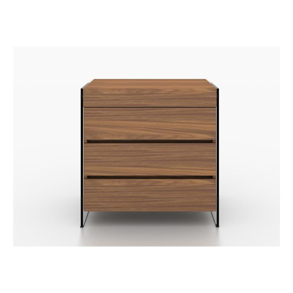 The Il Vetro Dresser In Walnut Veneer With Glass