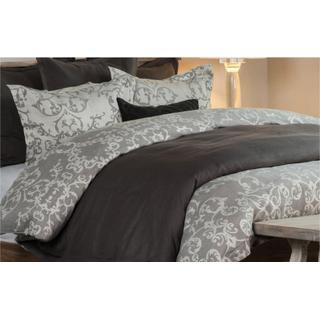 Lido Jacquard Charcoal 3Pc Queen Duvet Set