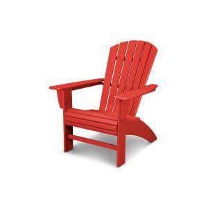 Polywood Furnishings - Nautical Curveback Adirondack Chair in Vintage Sunset Red
