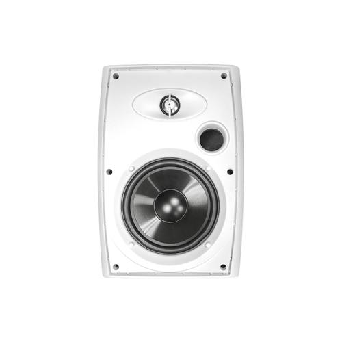 """Universal Remote Control - 6.5"""" Two-Way Outdoor Speakers (White)"""