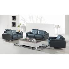 Product Image - Divani Casa Markham Modern Grey Bonded Leather Sofa Set