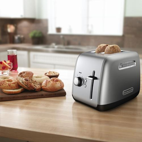 Gallery - 2-Slice Toaster with manual lift lever Contour Silver