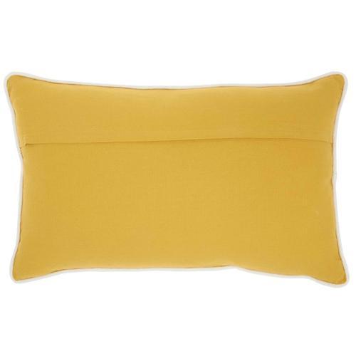 """Life Styles Az466 Yellow 12"""" X 20"""" Throw Pillow"""