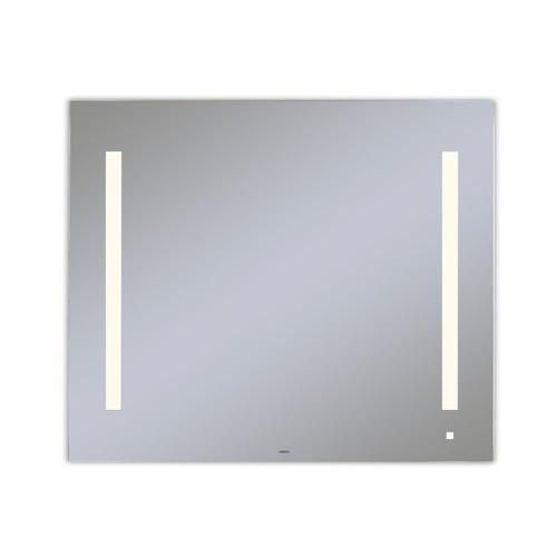 """Aio 35-1/8"""" X 29-7/8"""" X 1-1/2"""" Lighted Mirror With Lum Lighting At 2700 Kelvin Temperature (warm Light), Dimmable, Usb Charging Ports and Om Audio"""