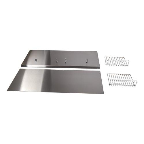 """Gallery - Backguard with Shelf - 36"""" Stainless Steel"""