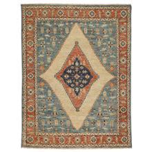 Charise-Tabriz Fog Blue Hand Knotted Rugs (Custom)