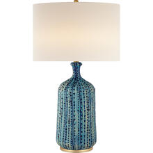 AERIN Culloden 33 inch 150 watt Pebbled Aquamarine Table Lamp Portable Light