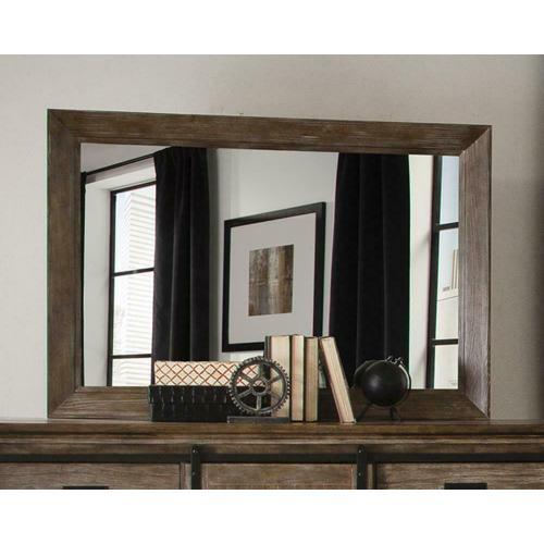 Meester Rustic Barn Door Mirror