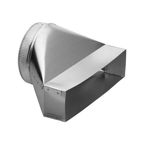 """Product Image - 10"""" Round to Rectangular Transition for Range Hoods and Bath Ventilation Fans"""