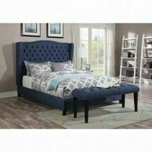 ACME Faye Eastern King Bed - 20877EK - Blue Linen
