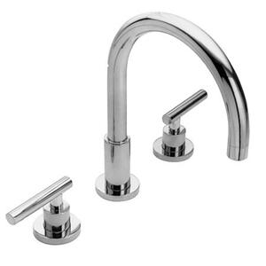 Midnight Chrome Roman Tub Faucet