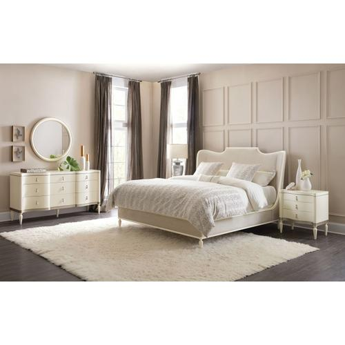 Bedroom Melange Monique King Upholstered Platform Bed
