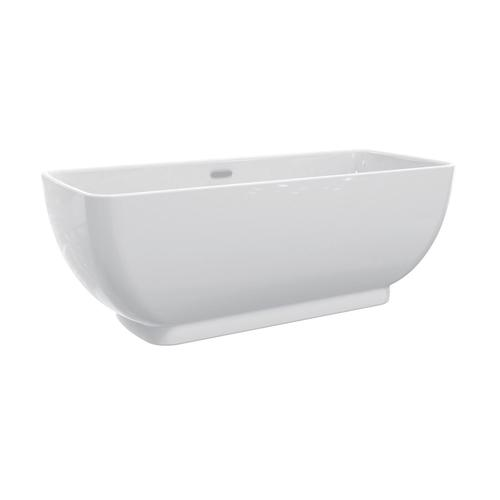 "Sullivan 67"" Acrylic Tub with Integral Drain and Overflow - Polished Brass Drain and Overflow"
