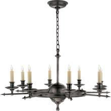 View Product - E. F. Chapman Leaf And Arrow 8 Light 35 inch Bronze Chandelier Ceiling Light