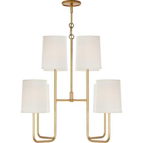 Barbara Barry Go Lightly 8 Light 31 inch Gild Chandelier Ceiling Light