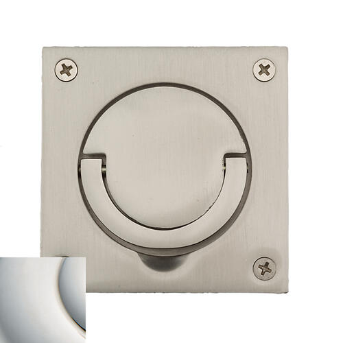 Baldwin - Polished Nickel with Lifetime Finish Flush Ring Pull