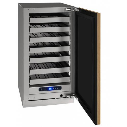 """U-Line - Hwc518 18"""" Wine Refrigerator With Integrated Solid Finish and Field Reversible Door Swing (115 V/60 Hz Volts /60 Hz Hz)"""