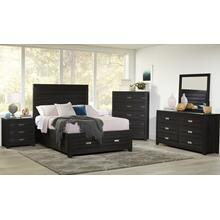 Altamonte Queen 4pc Set- Bed, Dresser, Mirror, Nightstand - Dark Charcoal